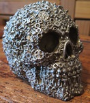 "<img src=One Off Gifts.jpg"" alt=""Skulls Finished in Bronze With Silver Over Paint Featuring Exclusive Screw, Nut and Bolt Design"">"
